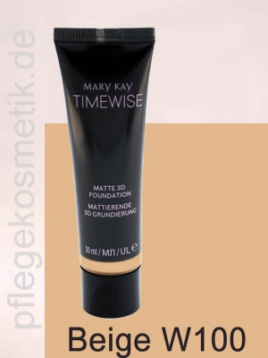 Mary Kay TimeWise Matte 3D Foundation, Beige W 100