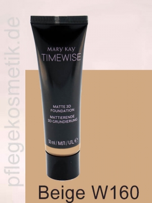 Mary Kay TimeWise Matte 3D Foundation, Beige W 160