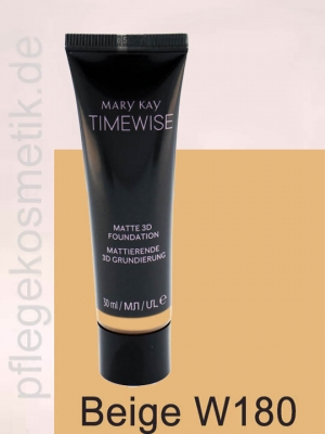 Mary Kay TimeWise Matte 3D Foundation, Beige W 180