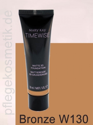 Mary Kay TimeWise Matte 3D Foundation, Bronze W 130