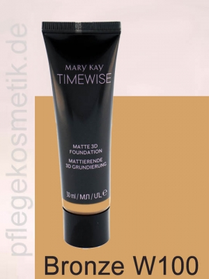 Mary Kay TimeWise Matte 3D Foundation, Bronze W 100