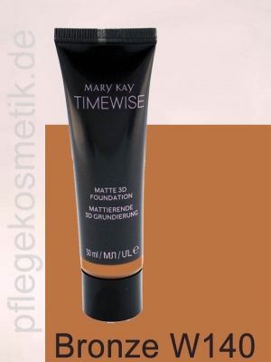 Mary Kay TimeWise Matte 3D Foundation, Bronze W 140