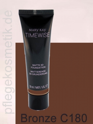 Mary Kay TimeWise Matte 3D Foundation, Bronze C 180
