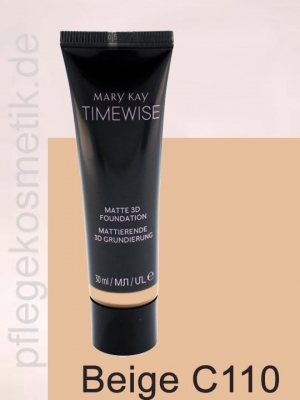 Mary Kay TimeWise Matte 3D Foundation, Beige C 110