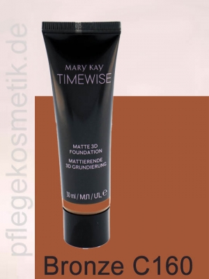 Mary Kay TimeWise Matte 3D Foundation, Bronze C 160