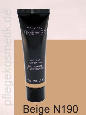 Mary Kay TimeWise Matte 3D Foundation, Beige N 190